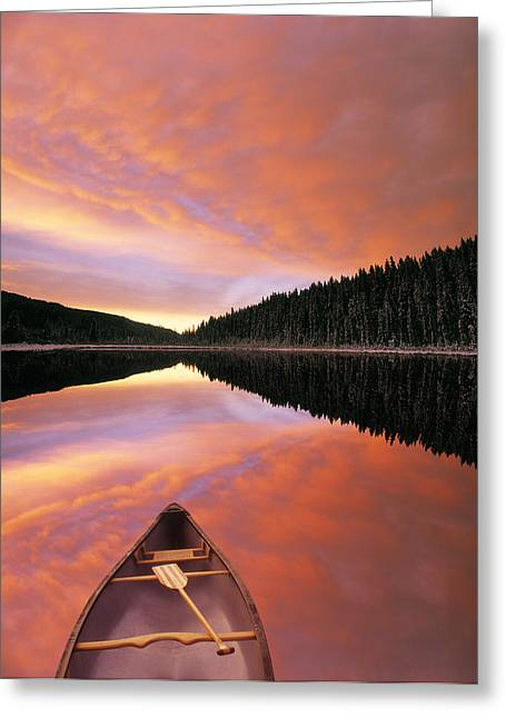 Winchell Greeting Cards - Sunrise Clouds Over Winchell Lake Greeting Card by Darwin Wiggett