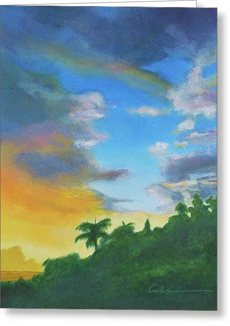 Sunrise Greeting Card by Diane Cutter