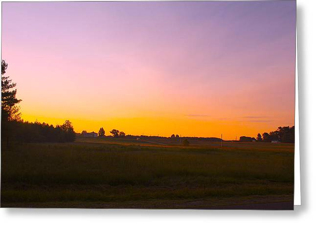 Field. Cloud Greeting Cards - Sunrise Field Greeting Card by Robbie Basquez