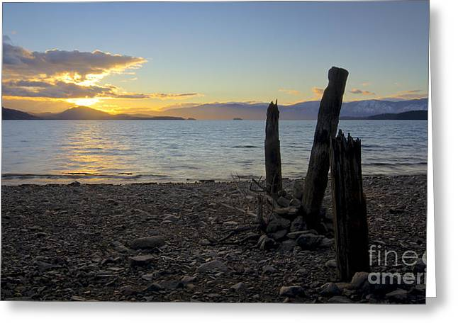 Lake Pend Oreille Greeting Cards - Sunrise Greeting Card by Idaho Scenic Images Linda Lantzy