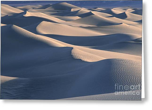 Sand Patterns Greeting Cards - Sunrise in Death Valley Greeting Card by Sandra Bronstein
