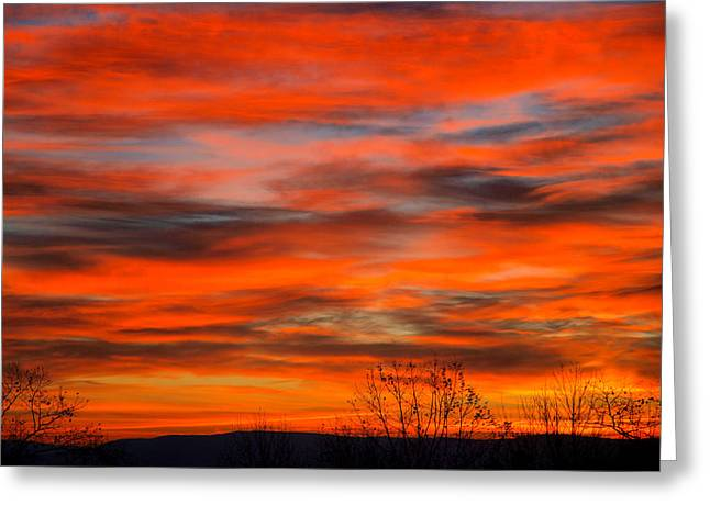 Ithaca Greeting Cards - Sunrise in Ithaca Greeting Card by Paul Ge
