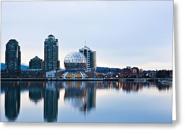 Telus Greeting Cards - Sunrise in Vancouver Greeting Card by Marion McCristall