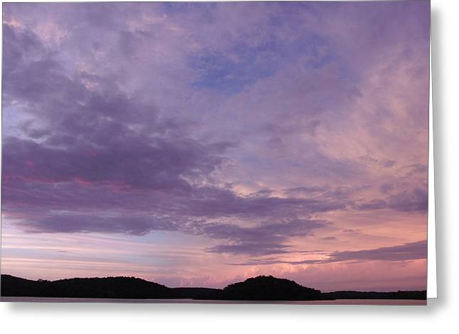 Sunrise Lake Colors Greeting Card by Brian  Maloney