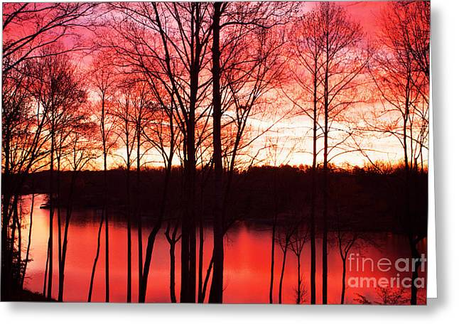 Kim Photographs Greeting Cards - Sunrise Lake Norman North Carolina Greeting Card by Kim Fearheiley