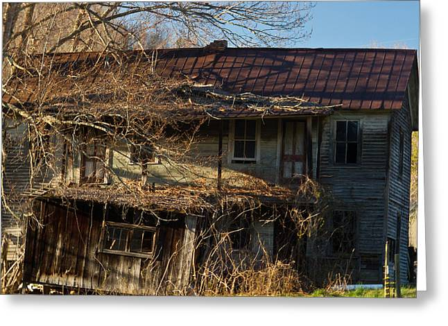 West Fork Greeting Cards - Sunrise on Old Farm House Greeting Card by Douglas Barnett
