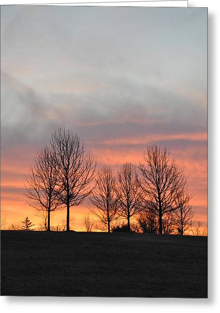 The Hills Digital Art Greeting Cards - Sunrise on the Hill Greeting Card by Bill Cannon