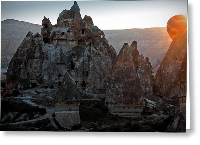 Sunrise over Cappadocia Greeting Card by RicardMN Photography