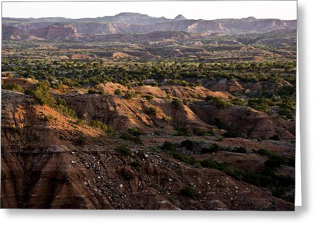 Caprock Canyons State Park Greeting Cards - Sunrise over Caprock Canyons State Park Greeting Card by Melany Sarafis