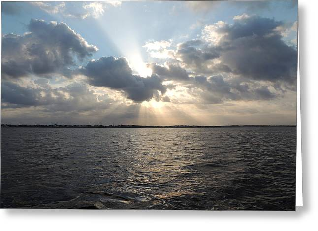 Sunrise Over Keaton Beach Greeting Card by Marilyn Holkham
