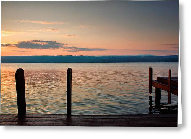 Finger Lakes Greeting Cards - Sunrise Over Keuka IV  Greeting Card by Steven Ainsworth