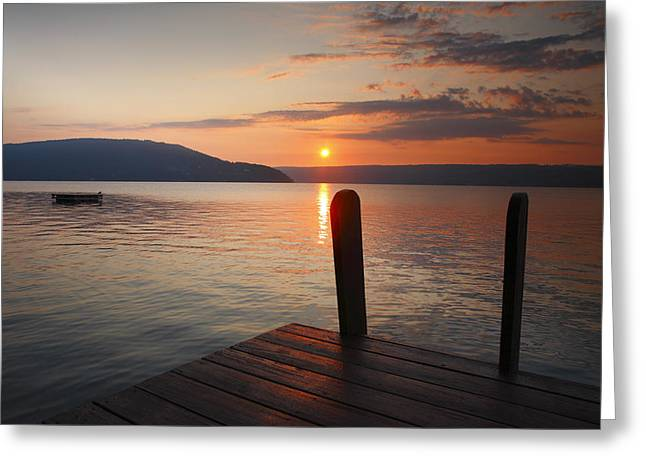 Finger Lakes Greeting Cards - Sunrise Over Keuka VI Greeting Card by Steven Ainsworth