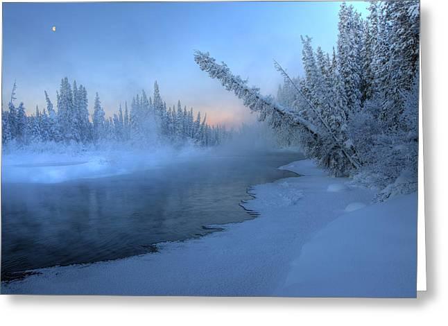 Morley Greeting Cards - Sunrise Over Morley River, Yukon Greeting Card by Robert Postma