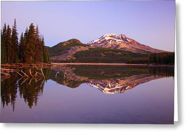 Ground Level Greeting Cards - Sunrise Over Sparks Lake And South Greeting Card by Craig Tuttle