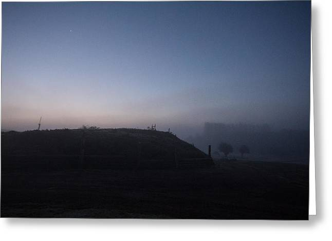 Tough Guys Greeting Cards - Sunrise over the Hill Greeting Card by Dawn OConnor