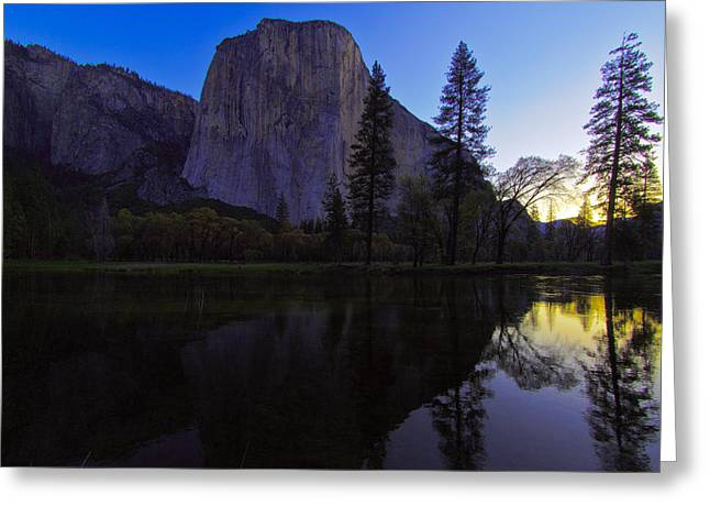 Merced River Greeting Cards - Sunrise over the Merced Greeting Card by Rick Berk