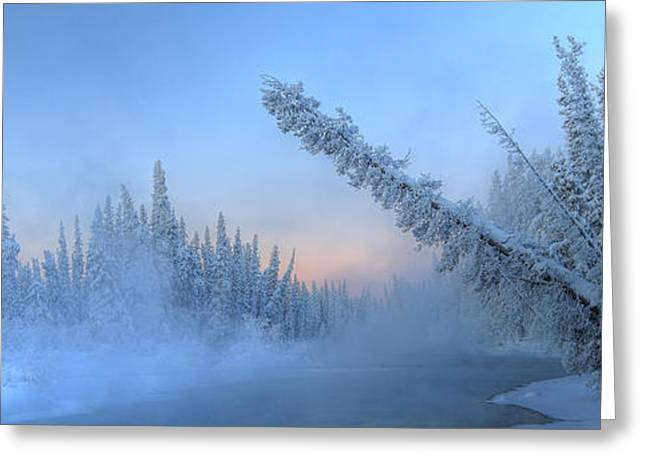 Morley Greeting Cards - Sunrise Over The Morley River Greeting Card by Robert Postma