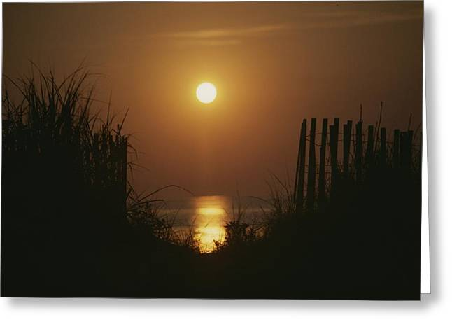 Bethany Beach Greeting Cards - Sunrise over the ocean Greeting Card by Stephen St. John