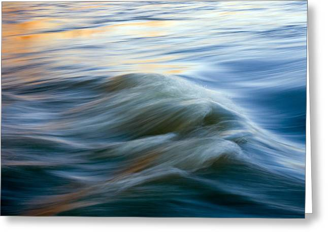 Wave Greeting Cards - Sunrise Ripple Greeting Card by Mike  Dawson