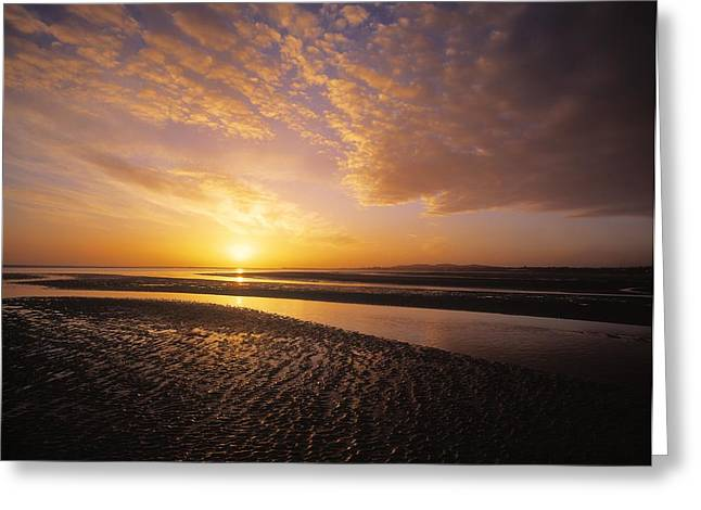 Sunrise, Sandymount Strand Dun Greeting Card by The Irish Image Collection