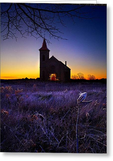 Geographic Greeting Cards - Sunrise Service Greeting Card by Phil Koch
