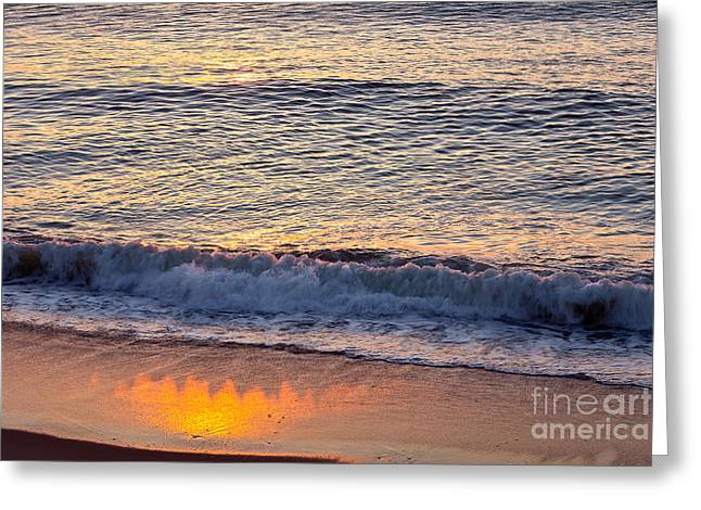 Marconi Beach Greeting Cards - Sunrise Shadow Greeting Card by Susan Cole Kelly