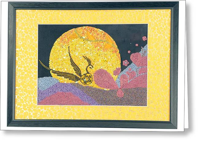 Sequin Jewelry Greeting Cards - Sunrise Greeting Card by Texartz India