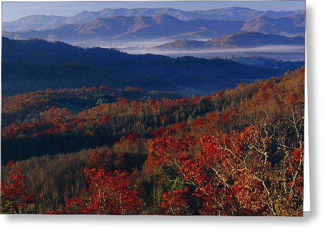 Sunrise View From Meadow Creek Lookout Greeting Card by Raymond Gehman