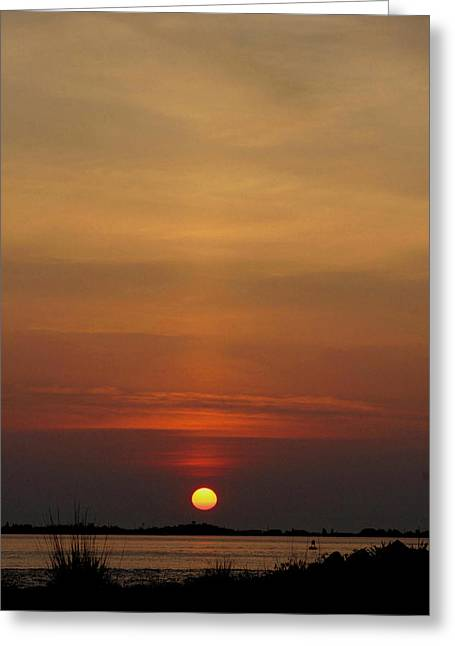 Long Island Photographs Greeting Cards - Sunrise with Bouy Greeting Card by Christopher Kirby