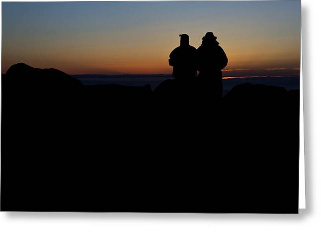 Maine Park Greeting Cards - Sunrise WIth Me Greeting Card by Rick Berk