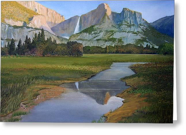 Robert Duvall Greeting Cards - Sunrise Yosemite Greeting Card by Robert Duvall