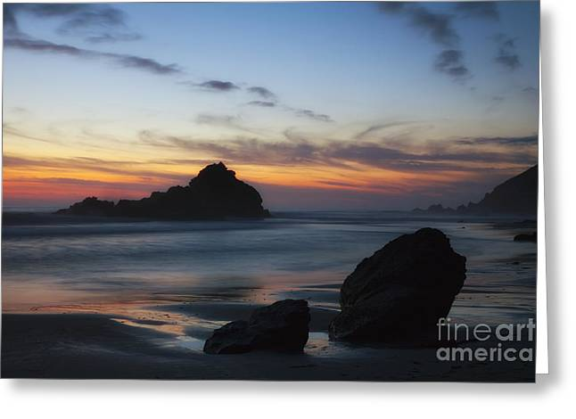 Pfeiffer Beach Greeting Cards - Sunset - Big Sur Greeting Card by Donald Withers