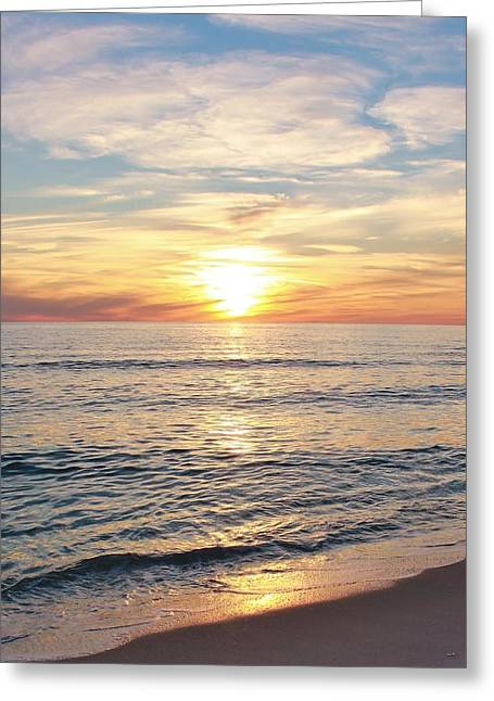 Panama City Beach Greeting Cards - Sunset 1 Greeting Card by Sharon Ventimiglia