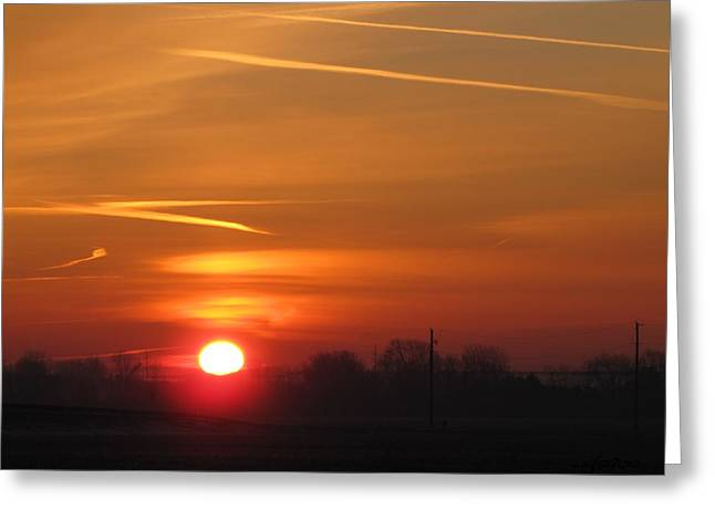 Sunset 1381 Greeting Card by Maciej Froncisz