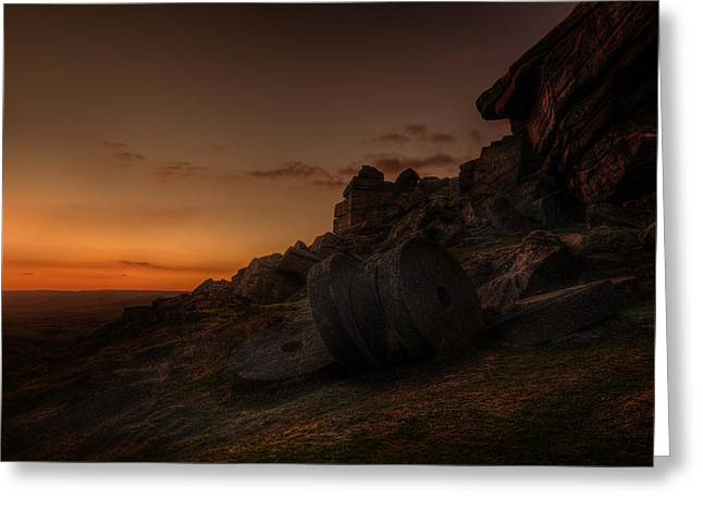 Millstone Greeting Cards - Sunset Afterglow Greeting Card by Andy Astbury
