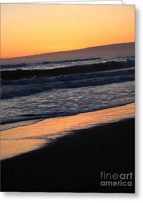 Pacific Ocean Prints Digital Art Greeting Cards - Sunset Greeting Card by Amanda Barcon