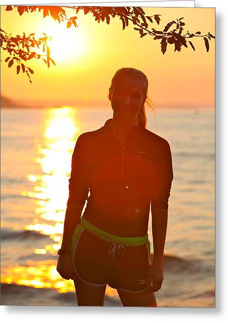 Amanda St Germain Greeting Cards - Sunset Greeting Card by Amanda St Germain