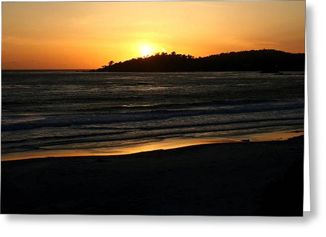 Pfeiffer Beach Greeting Cards - Sunset at Carmel by the Sea Greeting Card by PJQandFriends Photography