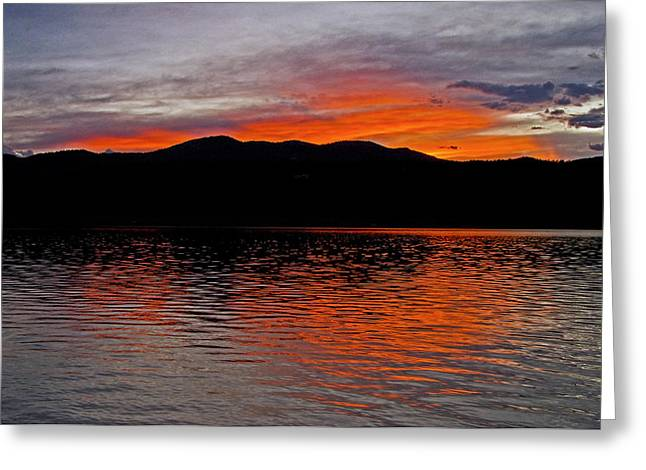 Sunset Greeting Cards Greeting Cards - Sunset at Carter Lake CO Greeting Card by James Steele