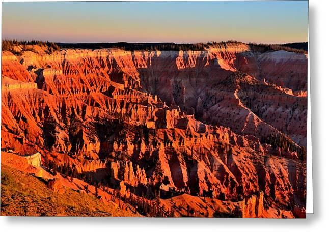 Sunset at Cedar Breaks Greeting Card by Mark Bowmer
