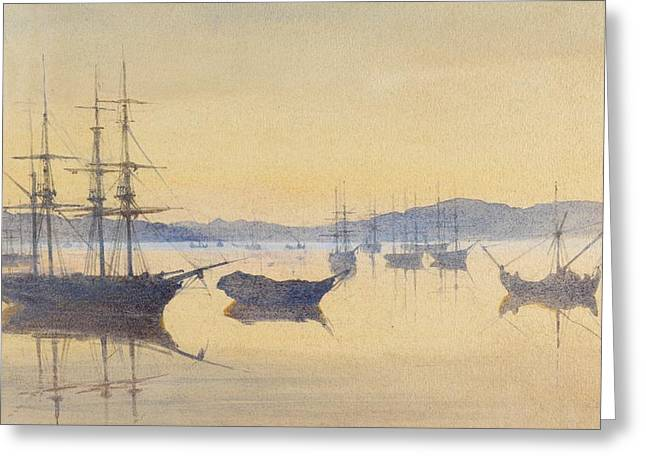 Yachting Greeting Cards - Sunset at Constantinople Greeting Card by M Baillie Hamilton