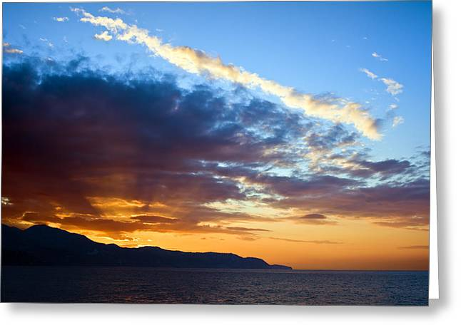 Peaceful Scene Greeting Cards - Sunset at Costa del Sol Greeting Card by Artur Bogacki