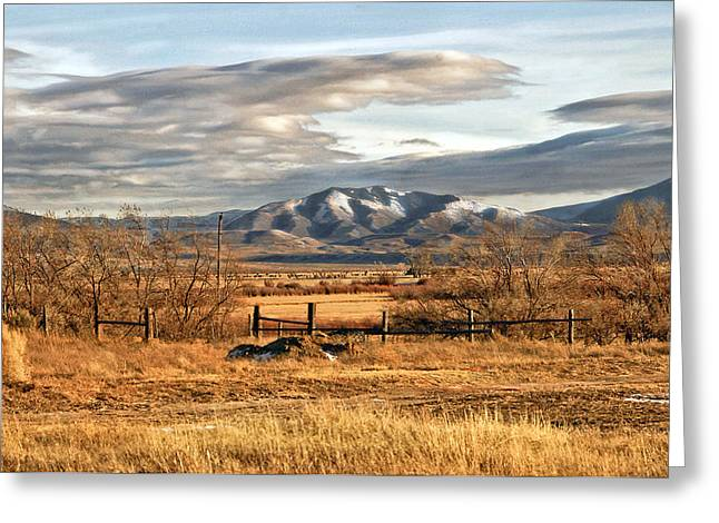 Sunset at Elk Mountain WY Greeting Card by James Steele