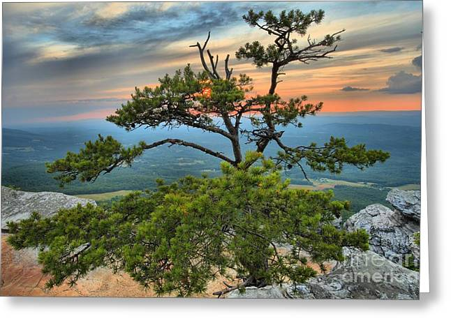 Ledge Photographs Greeting Cards - Sunset At Hanging Rock Greeting Card by Adam Jewell