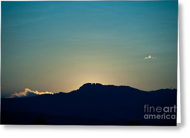 Sunset At Horsetooth Rock Greeting Card by Harry Strharsky