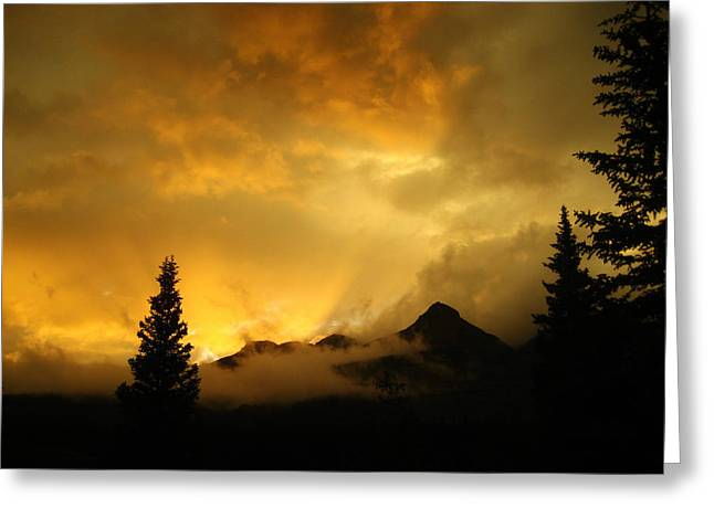 Mola Greeting Cards - Sunset at Molas Pass Greeting Card by Matthew Parks