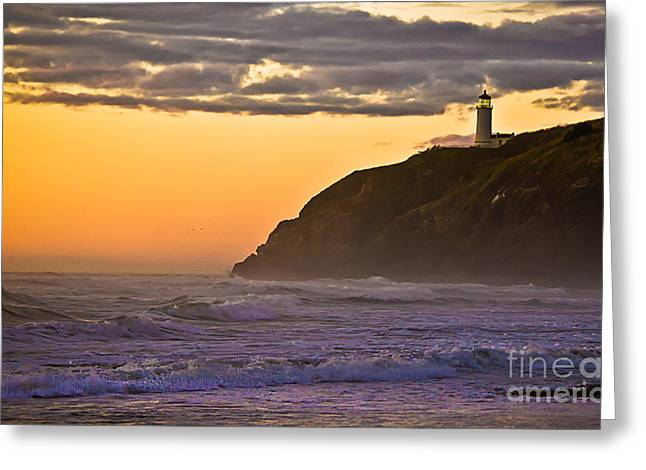 Aid To Navigation Greeting Cards - Sunset at North Head II Greeting Card by Robert Bales