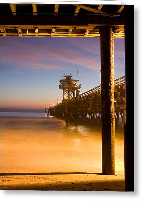 San Clemente California Greeting Cards - Sunset at San Clemente Greeting Card by Cliff Wassmann