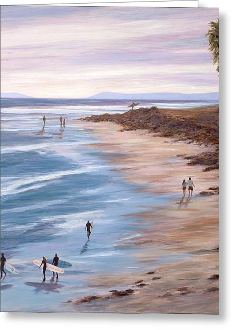 Ventura Greeting Cards - Sunset at Surfers Point Greeting Card by Tina Obrien