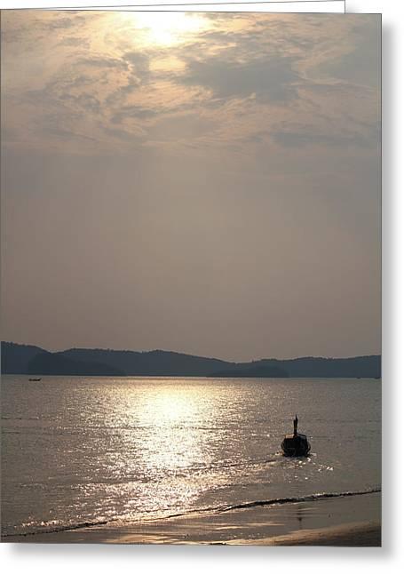 Nawarat Namphon Photographs Greeting Cards - Sunset at the beach Greeting Card by Nawarat Namphon